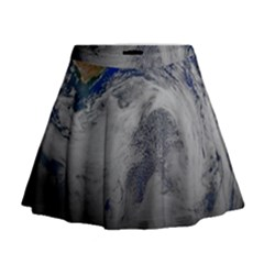 A Sky View Of Earth Mini Flare Skirt
