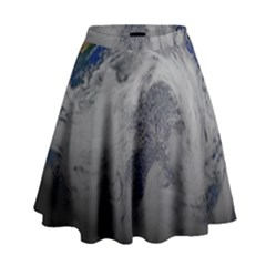 A Sky View Of Earth High Waist Skirt