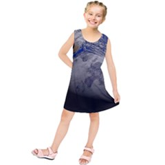 A Sky View Of Earth Kids  Tunic Dress