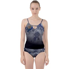 A Sky View Of Earth Cut Out Top Tankini Set