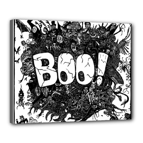 Monster Art Boo! Boo2 Canvas 20  X 16