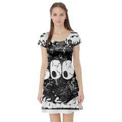 Monster Art Boo! Boo2 Short Sleeve Skater Dress