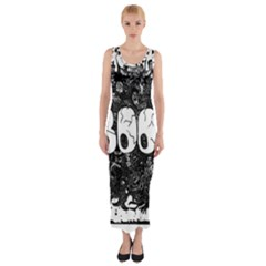 Monster Art Boo! Boo2 Fitted Maxi Dress