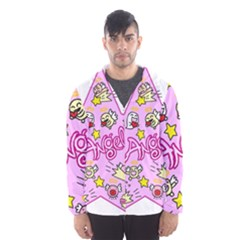 Pink Angel Star Hooded Wind Breaker (men)