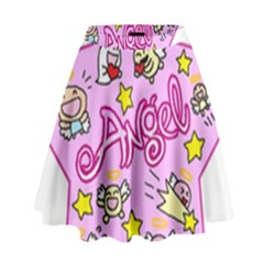 Pink Angel Star High Waist Skirt