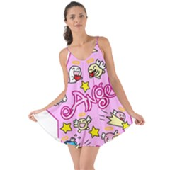 Pink Angel Star Love The Sun Cover Up