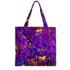 Melted Fractal 1a Zipper Grocery Tote Bag