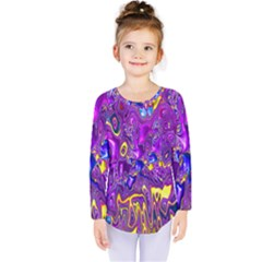 Melted Fractal 1a Kids  Long Sleeve Tee