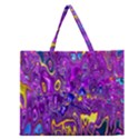 Melted Fractal 1a Zipper Large Tote Bag View1