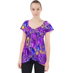 Melted Fractal 1a Lace Front Dolly Top