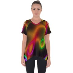 Vibrant Fantasy 4 Cut Out Side Drop Tee