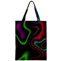 Vibrant Fantasy 2 Zipper Classic Tote Bag