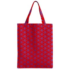 Flower Of Life Pattern Red Purle Zipper Classic Tote Bag
