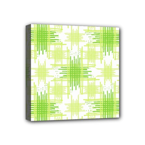 Intersecting Lines Pattern Mini Canvas 4  X 4