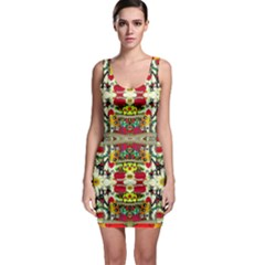Chicken Monkeys Smile In The Floral Nature Looking Hot Bodycon Dress