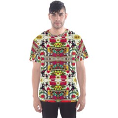 Chicken Monkeys Smile In The Floral Nature Looking Hot Men s Sports Mesh Tee
