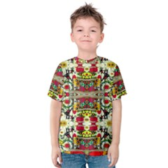 Chicken Monkeys Smile In The Floral Nature Looking Hot Kids  Cotton Tee