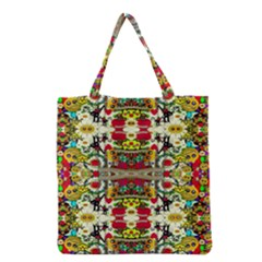 Chicken Monkeys Smile In The Floral Nature Looking Hot Grocery Tote Bag