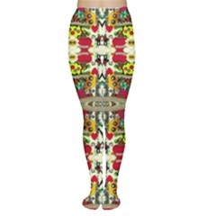 Chicken Monkeys Smile In The Floral Nature Looking Hot Women s Tights