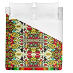 Chicken Monkeys Smile In The Floral Nature Looking Hot Duvet Cover (queen Size)