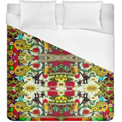 Chicken Monkeys Smile In The Floral Nature Looking Hot Duvet Cover (king Size)