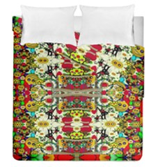 Chicken Monkeys Smile In The Floral Nature Looking Hot Duvet Cover Double Side (queen Size)