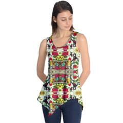 Chicken Monkeys Smile In The Floral Nature Looking Hot Sleeveless Tunic