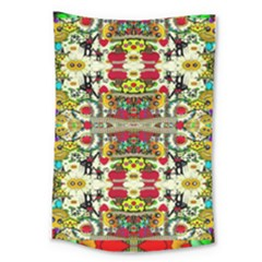 Chicken Monkeys Smile In The Floral Nature Looking Hot Large Tapestry