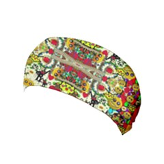 Chicken Monkeys Smile In The Floral Nature Looking Hot Yoga Headband