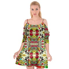 Chicken Monkeys Smile In The Floral Nature Looking Hot Cutout Spaghetti Strap Chiffon Dress