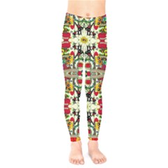 Chicken Monkeys Smile In The Floral Nature Looking Hot Kids  Legging