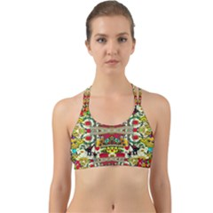 Chicken Monkeys Smile In The Floral Nature Looking Hot Back Web Sports Bra