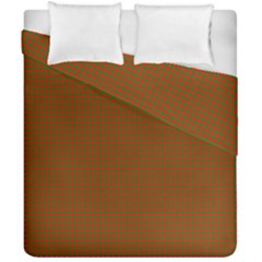 Classic Christmas Red And Green Houndstooth Check Pattern Duvet Cover Double Side (california King Size)