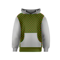 Grey And White Carbon Fiber Kids  Pullover Hoodie