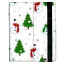 Snowman pattern Apple iPad Mini Flip Case View2