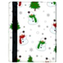 Snowman pattern Apple iPad Mini Flip Case View3