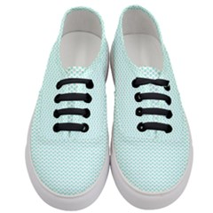 Tiffany Aqua Blue Lipstick Kisses On White Women s Classic Low Top Sneakers