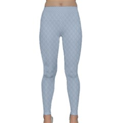 Powder Blue Stitched And Quilted Pattern Classic Yoga Leggings