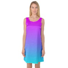 Pattern Sleeveless Satin Nightdress