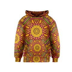 Sunshine Mandala And Other Golden Planets Kids  Pullover Hoodie
