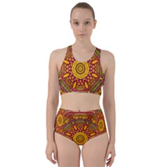 Sunshine Mandala And Other Golden Planets Racer Back Bikini Set