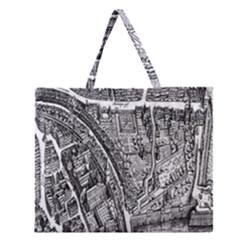 Frankfurt Judengasse Zipper Large Tote Bag