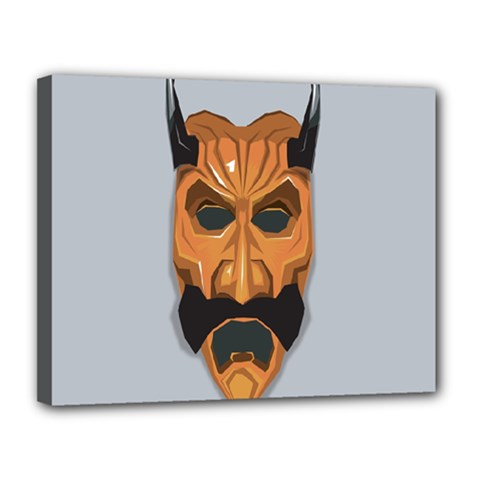 Mask India South Culture Canvas 14  X 11