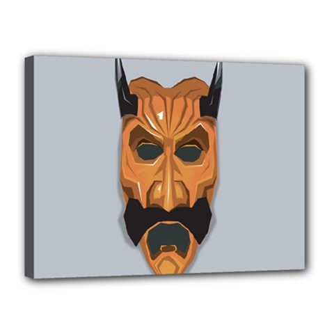 Mask India South Culture Canvas 16  X 12