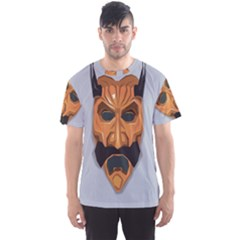Mask India South Culture Men s Sports Mesh Tee