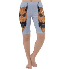 Mask India South Culture Cropped Leggings