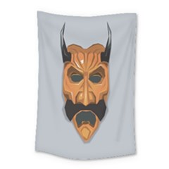 Mask India South Culture Small Tapestry