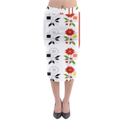 Bulgarian Folk Art Folk Art Midi Pencil Skirt