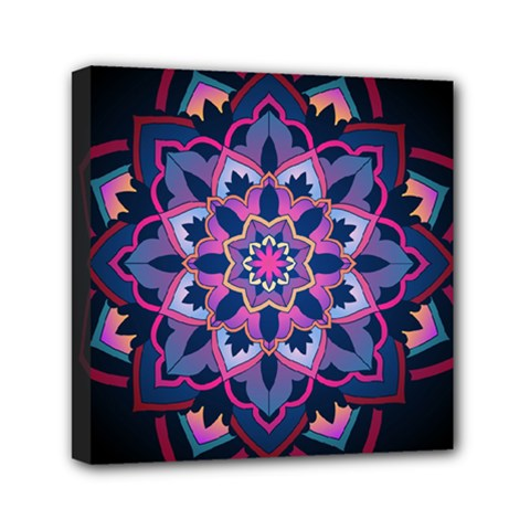 Mandala Circular Pattern Mini Canvas 6  X 6