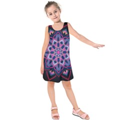 Mandala Circular Pattern Kids  Sleeveless Dress
